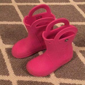 "Crocs ""Kids' Handle It Rain Boots "" size J2"